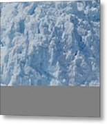 Icebergs Calving From Chenaga Glacier Metal Print
