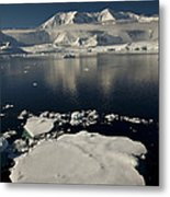 Icefloe In The Neumayer Channel Metal Print