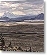 Iceland Stacked  Rocks Panorama Metal Print