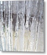 Icicle Curtain Metal Print