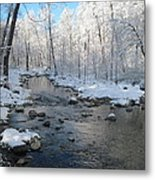 Icing On The Trees Metal Print