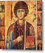 Icon Of Saint Pantaleon Metal Print by Science Source