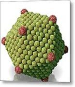 Icosahedral Virus Particle, Artwork Metal Print