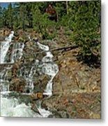 Icy Water Falls Glen Alpine Falls Metal Print