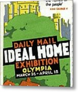 Ideal Home Exhibition Stamp, 1920 Metal Print