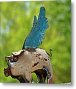If Pigs Could Fly Metal Print