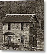 If These Walls Could Talk Sepia Metal Print