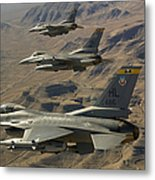 Ighter Jets Return From The Nevada Test Metal Print