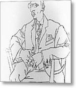 Igor Stravinsky, Russian Composer Metal Print