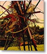 Ikebana Sunset Metal Print