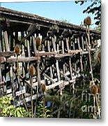 Illinois Central Wooden Train Bridge Metal Print