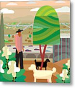 Illustration And Painting In Scottsdale Metal Print