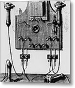 Illustration Of The Bell Telephone Metal Print