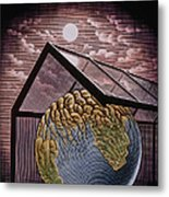 Illustration Of The Greenhouse Effect Metal Print