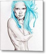 I'm Looking Metal Print by Diana Shively