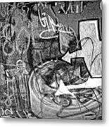 Image Of Graffiti In Edmonton Alberta Metal Print