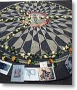 Imagine In Strawberry Fields Metal Print by Chris Ann Wiggins