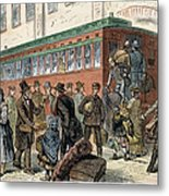 Immigrants, Nyc, 1880 Metal Print