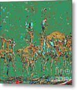 Impalas In The Green Bush Metal Print