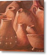 Imperfect Indian Pottery Metal Print by Janna Columbus