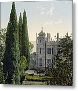 Imperial Castle In Alupku -ie Alupka -  Crimea - Russia - Ukraine Metal Print