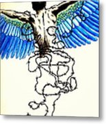 Impossibility To Escape Faced With Life Metal Print