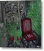 In A Corner Of The Yard Metal Print