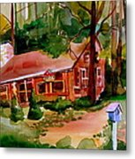 In A Cottage In The Woods Metal Print