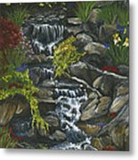 In A Country Garden Metal Print