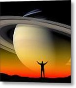 In Awe Of Saturn Metal Print
