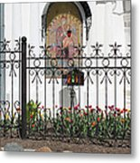 In Front Of Church Metal Print