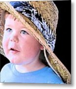 In Grandpa's Hat Metal Print