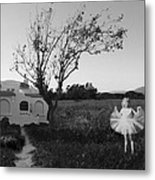 In My Dreams I Am A Little Girl Bw Metal Print