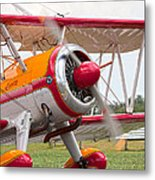 In Plane View Metal Print