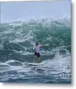 In The Center Of The Swell Metal Print