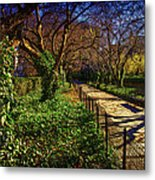 In The Conservatory Garden Metal Print