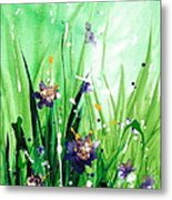 In The Garden V Metal Print