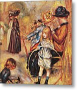 In The Luxembourg Gardens Metal Print by Pierre Auguste Renoir