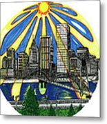 In the Midst of Sunshine Metal Print