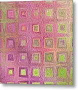 In The Pink With Squarish Squares  Metal Print