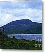 In The Shelter Of The Blue Cliff 2 Metal Print