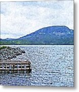 In The Shelter Of The Blue Cliff Metal Print