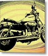 In The Vortex - Harley Davidson Metal Print