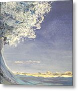 In The Wave Metal Print