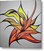 In To The Flame Metal Print