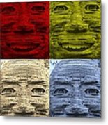 In Your Face In Colors Metal Print
