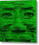 In Your Face In Green Metal Print