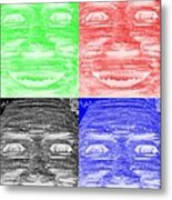 In Your Face In Negative Colors Metal Print