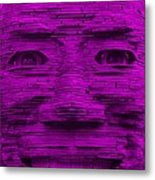 In Your Face In Purple Metal Print