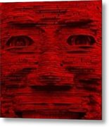 In Your Face In Red Metal Print
